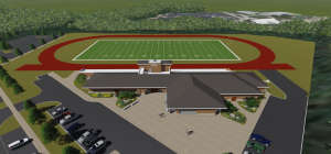 A rendering of the Football Facilities set to open by the 2015 Football Season