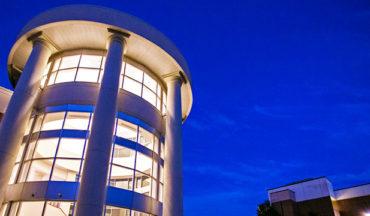 Rotunda with night blue sky