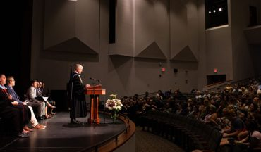 Pres. Ross addresses new class