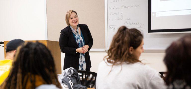 Dr. Staggenborg teaching a class